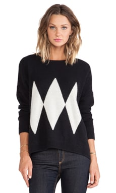 Acquaverde Pullover Sweater in Black & Off White
