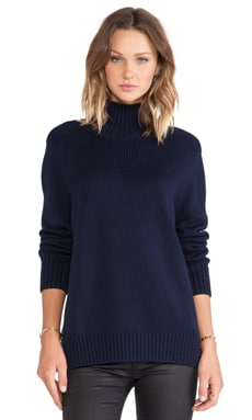 Acquaverde Turtleneck Sweater in Navy