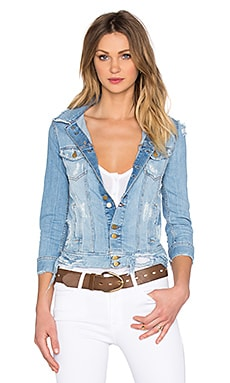 Acquaverde Carmen Denim Jacket in Light Used Destroy