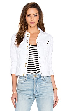 Acquaverde Carmen Denim Jacket in White