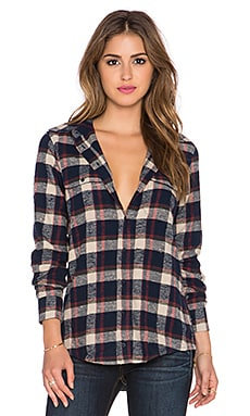 Acquaverde Button Down in Blue Checked