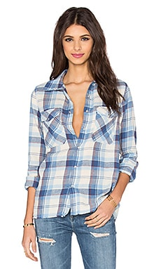 Anda Button Up in Stone Checked