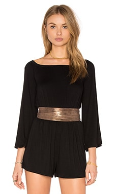 Metallic Wrap Belt in Truffle