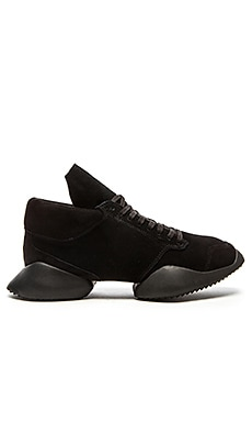 adidas by Rick Owens Runner in Core Black Core Black Core Black