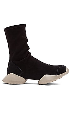 adidas by Rick Owens RO Runner Ankle Boot in Black Black RO Milk