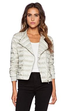 ADD Down Biker Jacket in Silver