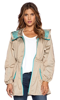 ADD Unlined Parka in Biscuit & Turquoise