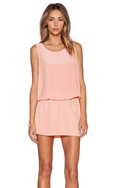 ADDISON Crosley Dress in Peach Combo