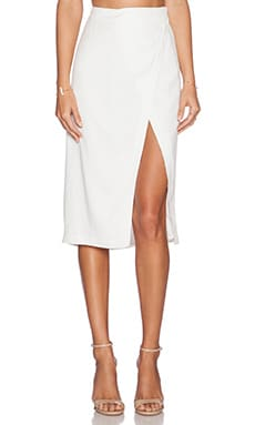 ADDISON Repetti Wrap Skirt in Milk