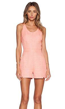 ADDISON Testa Romper in Papaya Combo