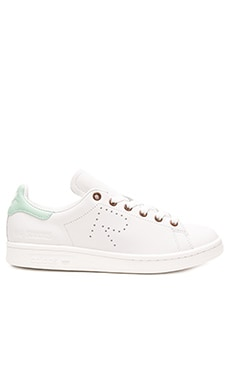 Stan Smith Sneaker en Blanc Vintage & Blush Vert
