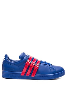 adidas by Raf Simons Stan Smith Strap Sneaker in Collegiate Royal & Power Red