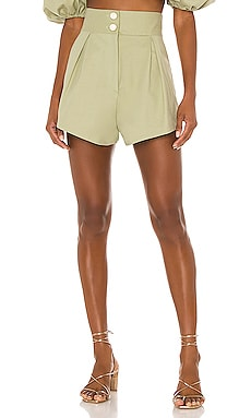 Muguet Solid Pleated Short ADRIANA DEGREAS $340
