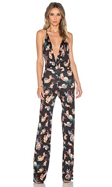 Unicorn Print Jumpsuit in Black