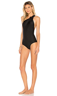 One Shoulder Swimsuit with Buckle ADRIANA DEGREAS $191