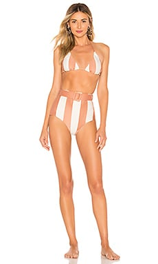 MAILLOT DE BAIN 2 PIÈCES PORTO STRIPED HOT PANTS ADRIANA DEGREAS $204 Collections