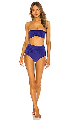 Marjorelle Blue Belted Hot Pant Bikini Set ADRIANA DEGREAS $154