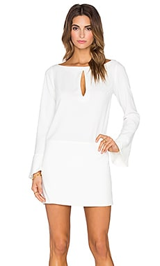 ADRIANA DEGREAS Long Sleeve Mini Dress in White