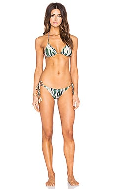 Araruta Print Triangle Bikini in Green