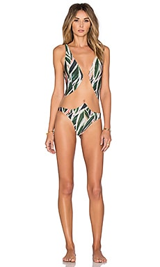Araruta Tulle Swimsuit in Green