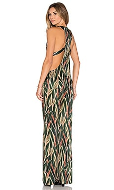 ADRIANA DEGREAS Araruta Print Jumpsuit in Green
