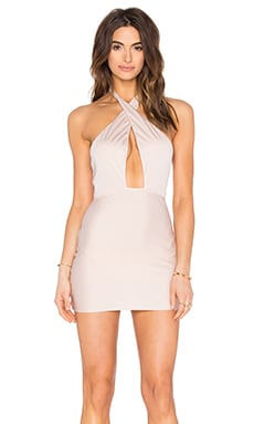 ADRIANA DEGREAS Halter Dress in Coquile