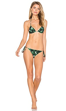 Ginkgo Triangle Tie Bikini Set in Bonsai Green