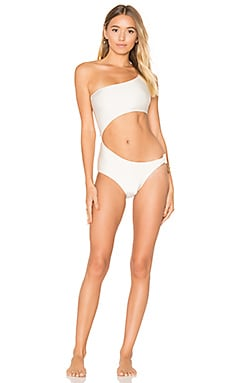 One Shoulder Mandala Swimsuit en Ivory