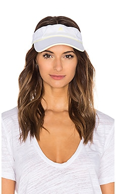 adidas by Stella McCartney Visor in White & Fresh Yellow