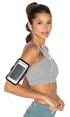 Media Arm Pouch in Black & Silver & Purple