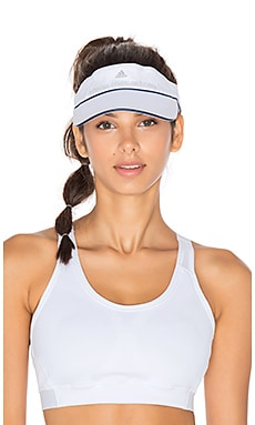 adidas by Stella McCartney Tennis Visor in White & Collegiate Navy