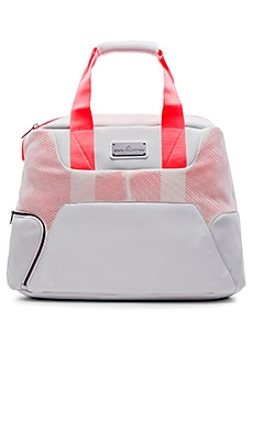 Tennis Bag in White & Flash Red