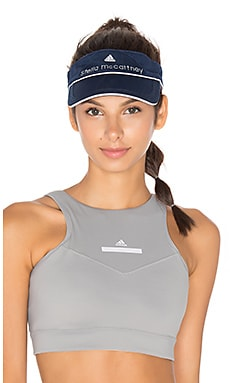adidas by Stella McCartney Tennis Visor in Collegiate Navy & Seed Pearl
