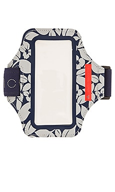 adidas by Stella McCartney Media Arm Band in Ink Navy & Solar Red