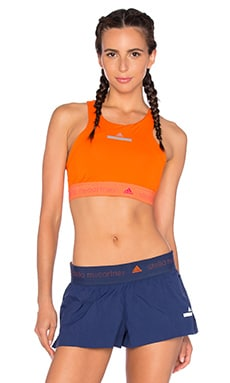 adidas by Stella McCartney Climachill Crop Top in Radiant Orange