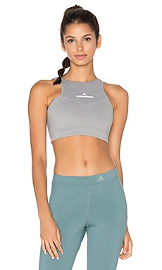 adidas by Stella McCartney High Intensity Bra in Frost Grey