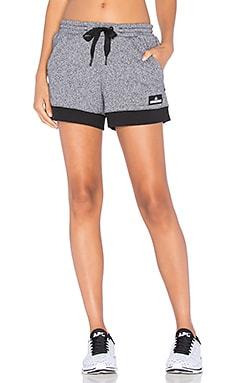 adidas by Stella McCartney Essentials Knit Short in Black & White