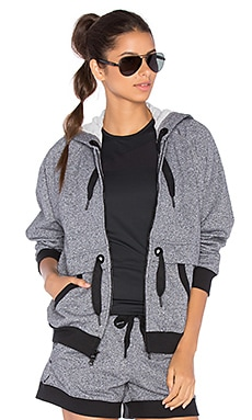 adidas by Stella McCartney Essentials Hoodie in Black White