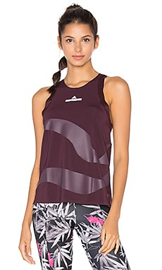 adidas by Stella McCartney Run Adizero Loose Tank in Dark Burgundy