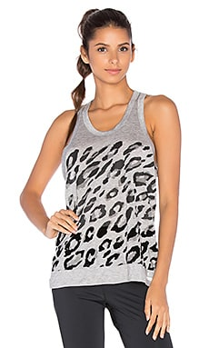 adidas by Stella McCartney Essentials Leopard Tank in Medium Grey Heather