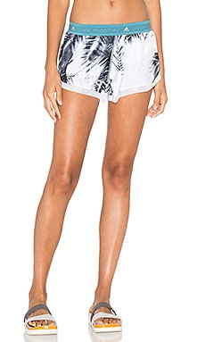 adidas by Stella McCartney Run Palm Print Short in White & Black