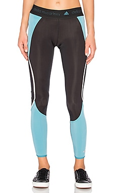 Run Climaheat Long Tight in Black & Harbour Blue