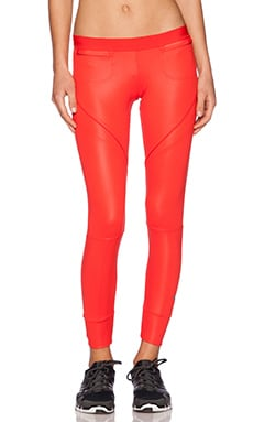 adidas by Stella McCartney Full Length Tight in Scarlet Red