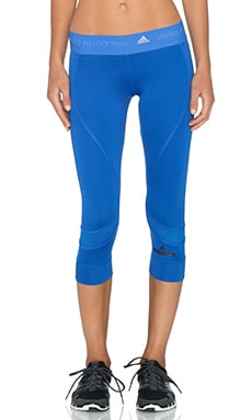 adidas by Stella McCartney Running 3/4 Tight in Flight Blue