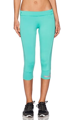 adidas by Stella McCartney The Essential 3/4 Tight in Shimmer Green