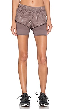 adidas by Stella McCartney ClimaStorm Run Short in Cement Grey
