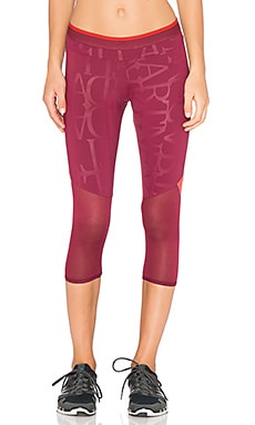 adidas by Stella McCartney Running 3/4 Tight in Dark Wine