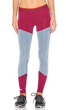 adidas by Stella McCartney Long Tight in Dark Wine & Blue