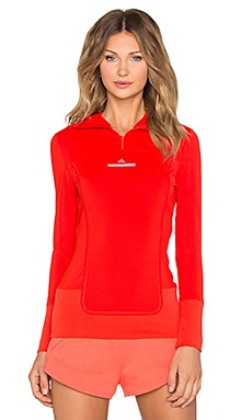 adidas by Stella McCartney Essentials Hooded Long Sleeve in Red