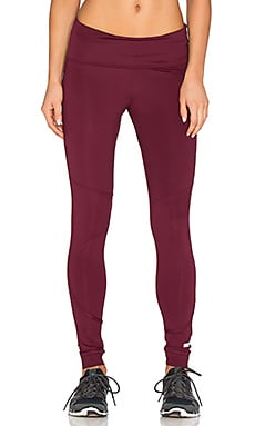adidas by Stella McCartney The Performance Fold Over Legging in Maroon